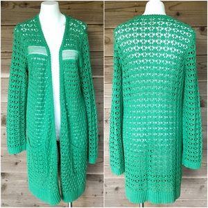 ⬇️$68 Anthro Far Away from Close Crochet Cardigan